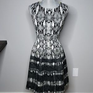 Vince Camuto Snakeskin Print Dress